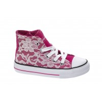 MISS SIXTY fuxia lace sneakers